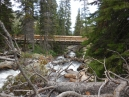 the bridge at Ouzel Falls; these are built for horse traffic - a mixed use trail, hence their very sturdy construction