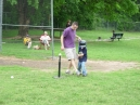 Note Coach Brian's had position - watch out for that bat!