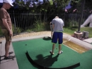 the guys have a night out with minigolf