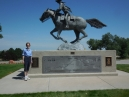 Colorado Welcome Center; Pony Express statue