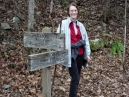 Hike 6 - Old Sugarlands Trail: the requisite trail sign picture