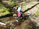 a challenging  creek crossing at Campsite 20