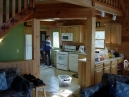 Interior of Leeland Ridge, from main room looking into kitchen