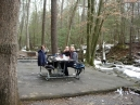 lunch at the Cades Cove picnic area