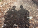 We see our shadows, proving that we are not vampires.  What a relief (Good grief!)