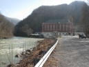 The Waterville hydroelectric plant on the Pigeon River, on the way to the campground.