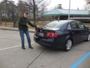 fast forward to Monday morning - at a rest stop in Indiana with the new airfoil Jetta