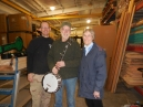 with Eric Sullivan, the Banjo Man, at his shop in Louisville with the finished banjo project; he really liked it