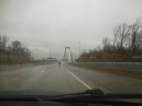taking the I-265 suspension toll bridge around the east side of Louisville