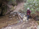 this crossing, which we have done numerous times, was much trickier due to the higher water caused by the log jam