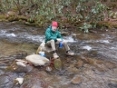 up a creek without a water filter -never did find it; either lost downstream or back at home